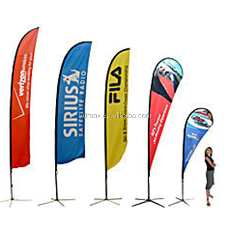 Advertising outdoor feather teardrop banner Beach Flag