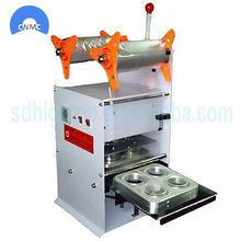 Automatic Yogurt Plastic Cup Sealing Machine / Sealer Machine For Milk Cup
