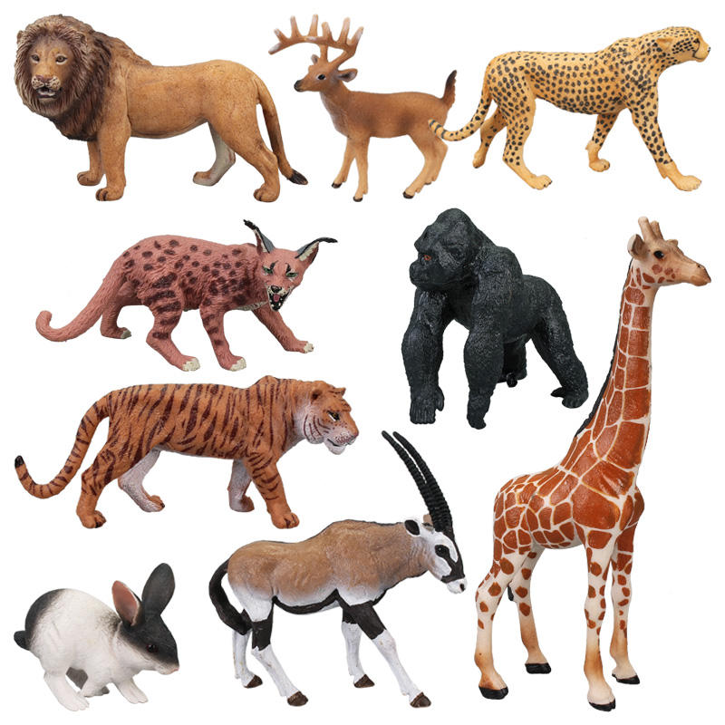 3rd set: PVC Simulation Solid Animal Model Figure Plastic Animal Toy Figurines