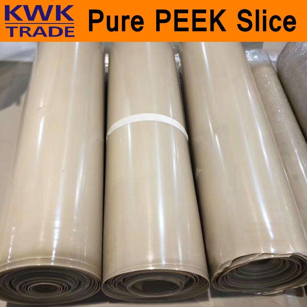 PEEK Slice Scaleboard Thin Section PEEK450G 450CA30 450GL30 450FC30 Plate Continuous Extrusion Corrosion-Resistant Thermoplastic