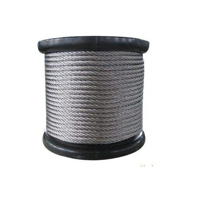 AISI 304 7X19 stainless steel wire rope