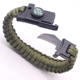 Factory Wholesale Multifunctional Outdoor Compass Knife Fire Starter Paracord Bracelet Survival