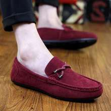 Men Casual Moccasin Shoes Men's Loafers Soft Suede Leather Shoes Men's Flats Gommino Driving Shoes