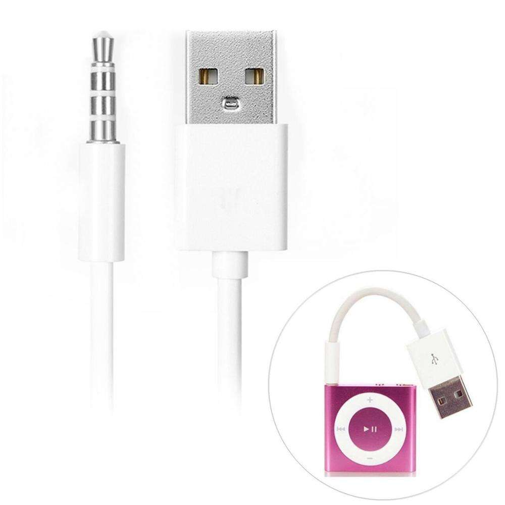3.5mm Jack Adapter Cord M to M USB Data Sync Charger For iPod Shuffle 3rd-7GEN