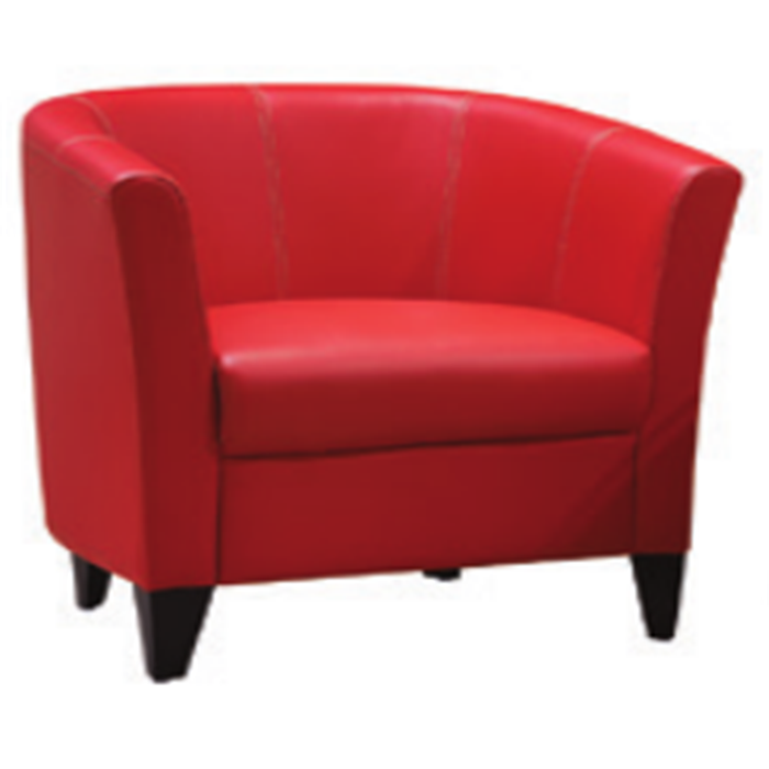single office room furniture waiting sofa relax red color leather hotel coffee waiting sofa