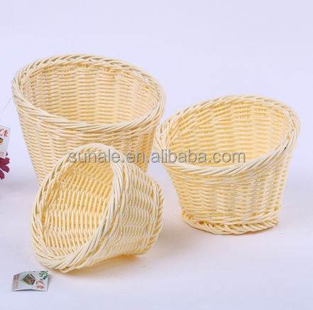 Bamboo Weaving basket handmade for fruit Vegetables and food sell to hotel