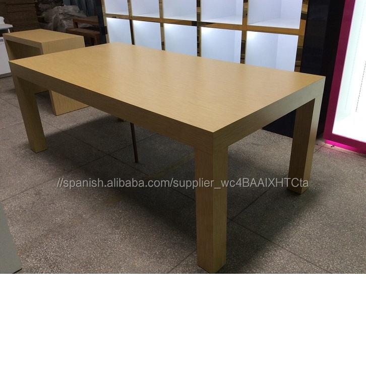 <span class=keywords><strong>Apple</strong></span> tienda de madera mesa de exhibición con 4 Patas para la venta al por menor