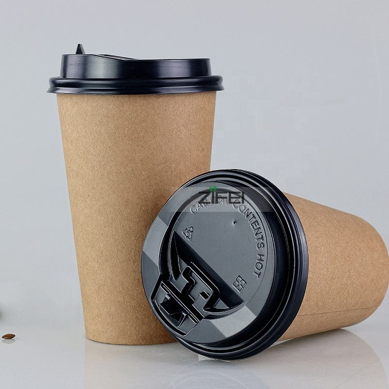 single double wall biodegradable compost 8oz 12oz 16oz paper cup for coffee beverage