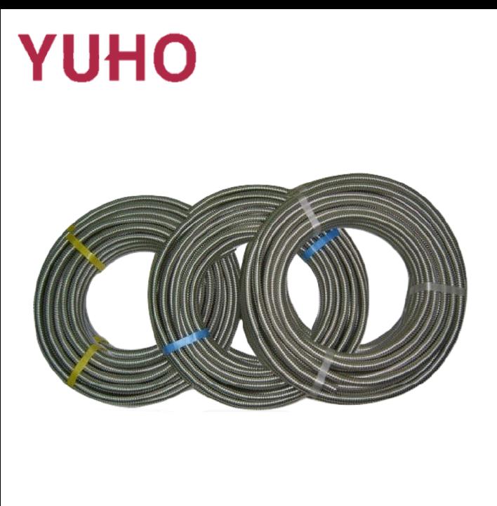 1 pouce en acier inoxydable ondulé flexible jaune en caoutchouc tuyau de gaz tuyau