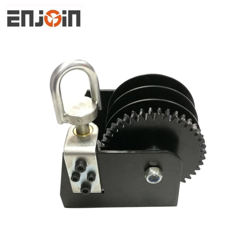 ENJOIN 2000LBS Worm Gear Hand Winch Two Way Ratchet