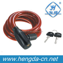 YH1399 High quality bicycle cable lock with two keys bicycle cable lock