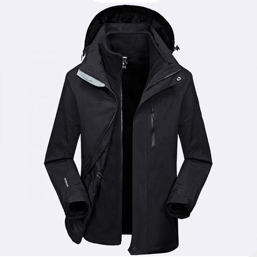 2019 New Design Winter Mens custom outerwear 3 in 1 jacket