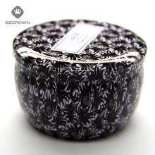 Wholesale Candle Tin candle candy jewelry watch gift metal packaging tinplate round Box