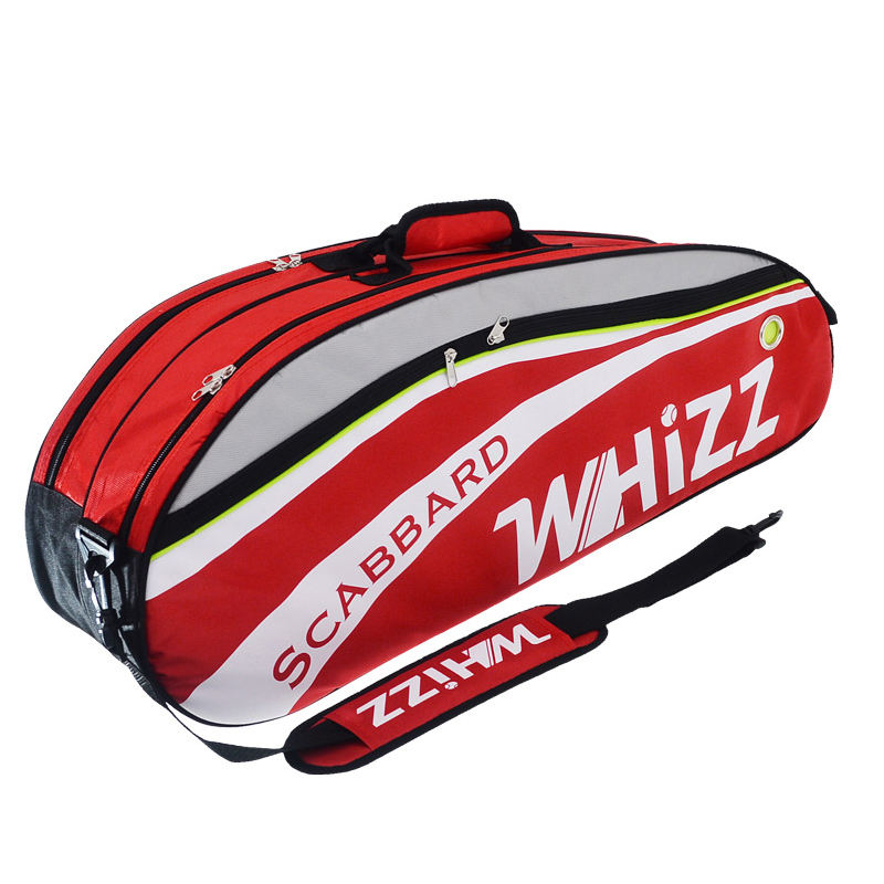 Factory OEM red fashion custom tennis racket bag