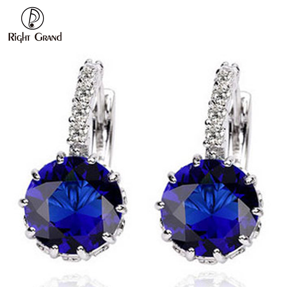 Daily Wear Fancy Design Cubic Zircon Drop Earring Round Shape Zircon Stud Earring For Party College Girls