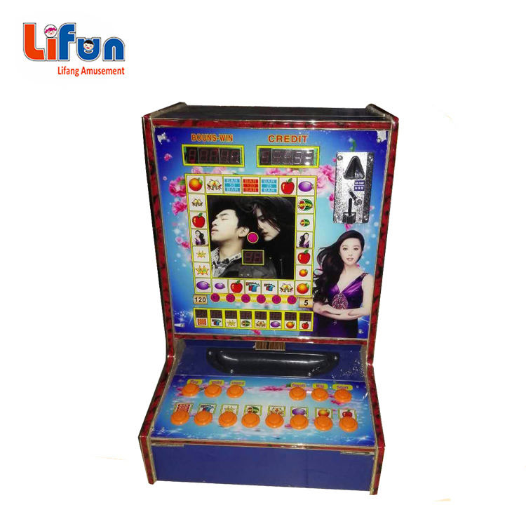 wooden cabinet electronic table top slot game machine