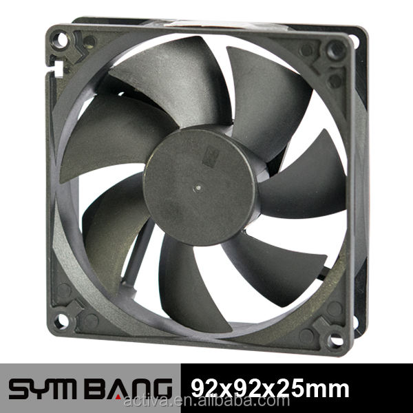 Low noise 25dBA brushless graphic card dc fan 92x92x25mm (D9225-K)