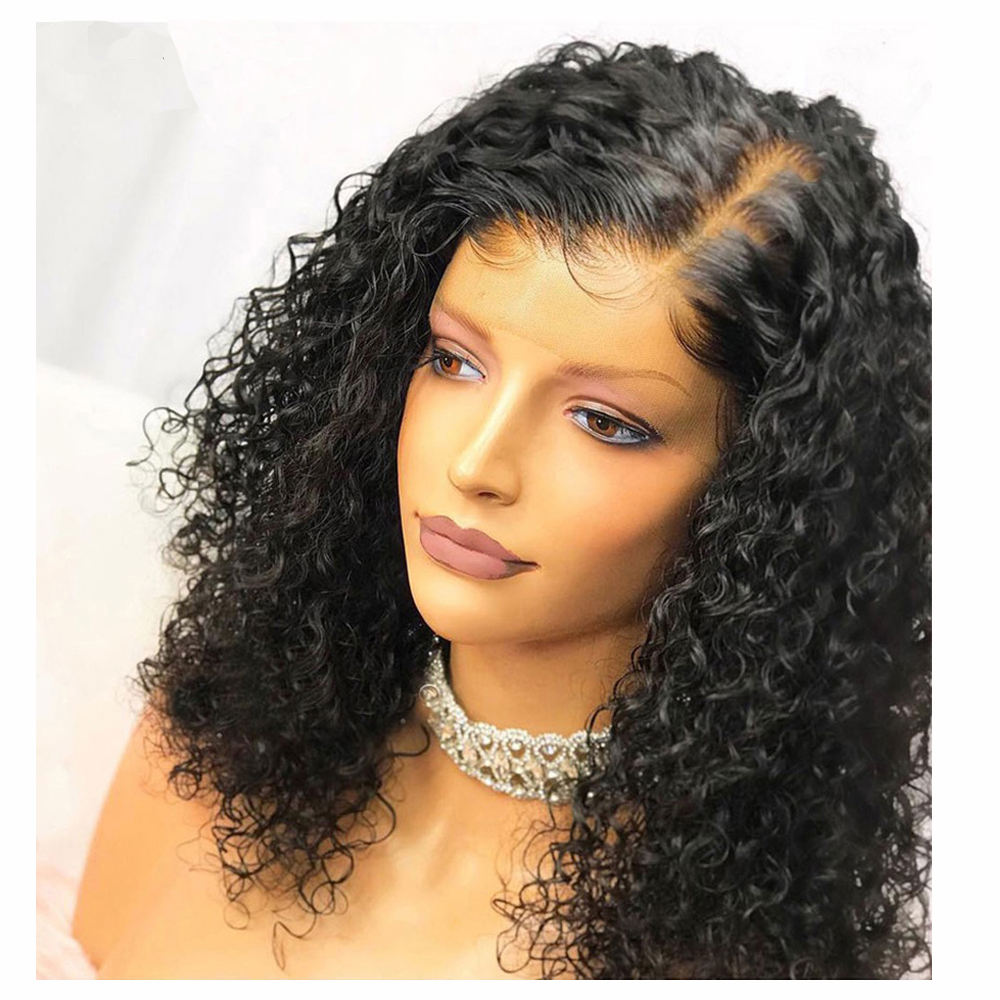 Baoli Factory 130% 150% 180% Density Bob Curly Wigs,Wholesale Lace Front Wig Human Hair With Baby Hair
