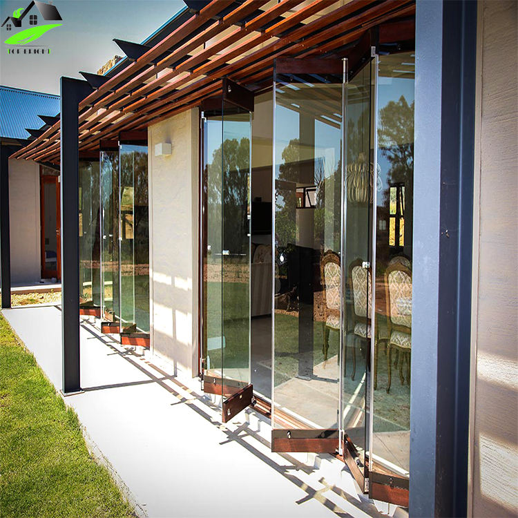 Hot Design Frameless Bifold Glass Door
