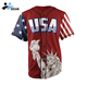 Custom button up american baseball jersey usa