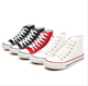 2019china high quality fashion platform cheap unisex white blank high top custom sneakers all star casual canvas shoes men women