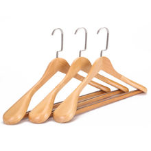 High quality shirt luxury wooden hangers clothes wholesale for suit