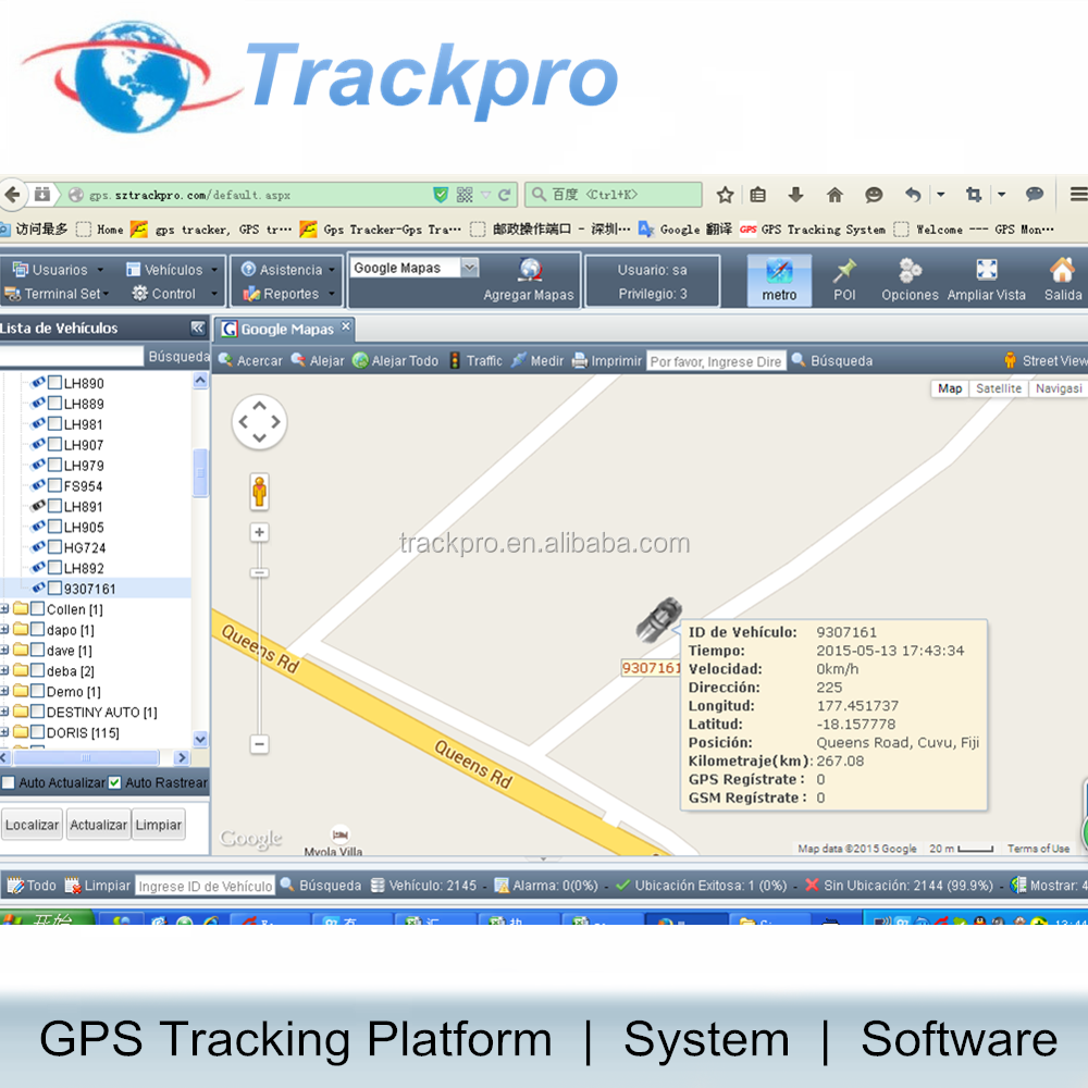 Gps-kaart software voor windows ce mini et700, mc300, gp9000, et800c gps tracker