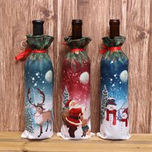 factory wholesale xmas gift for red wine xmas bottle cover