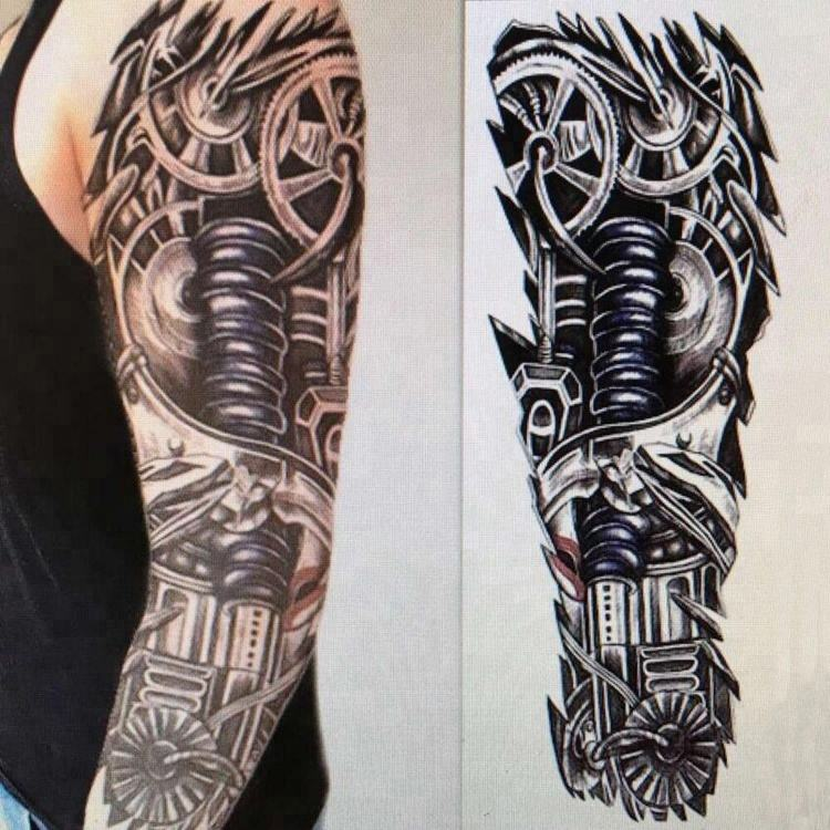 Hot selling Colourful Temporary Full Arm Tattoo For Men