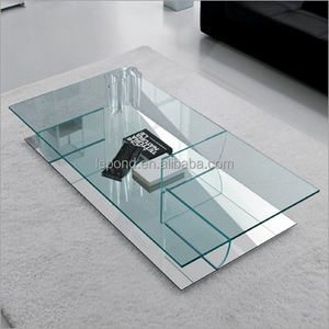 N778 Home Decor Glass Table, Italia Style Glass Coffee Table, Clear Cheap Coffe Table Glass