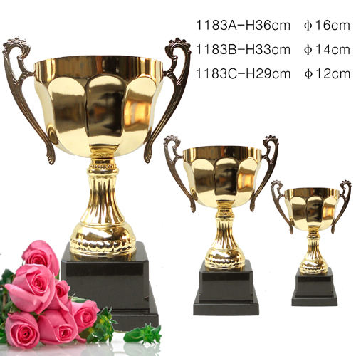 No minimum order trophy cup in stock medal trophies cups