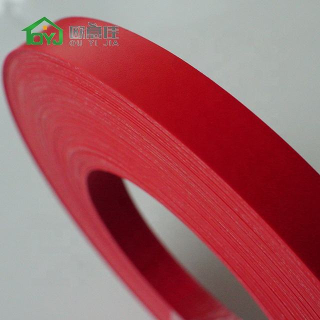 Solid PVC ABS plastic mdf edge banding tape for furniture accessories