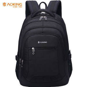 Aoking oem embroidered logo business backpack laptop 17 inch bagpack bags for men backpack and women