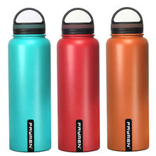 Wide Mouth double wall Stainless Steel insulated vacuum flask hot Water Bottle