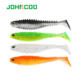 JOHNCOO Fishing Lure Soft Wrom Silicone Soft Bait Isca Artificial Wobbler 80mm Paddle Tail Lure Minnow Swimbait Bass Fishing