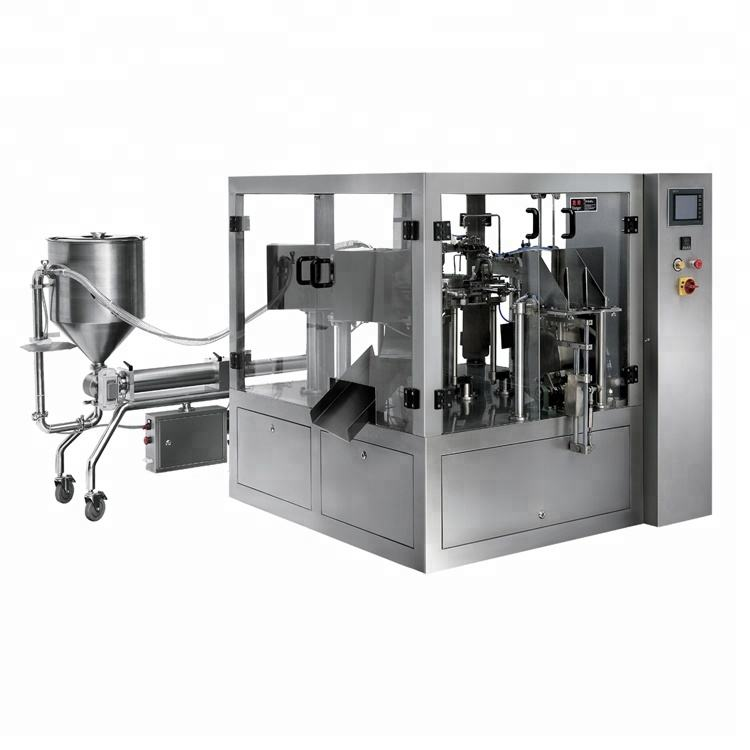 Machine Packaging Liquid Automatic Premade Pouch Thick Liquid And Paste Packaging Machine