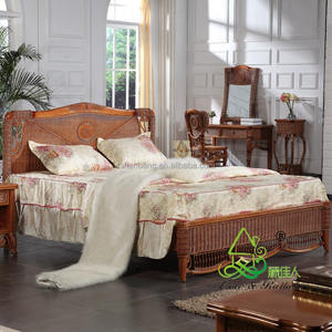 Spa Resort Rekreasi Elegan Kayu Bambu Alami Gaya Bedroom Set Furniture