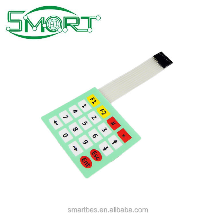 Smart Electronics~ Shenzhen Custom PCB Membrane Switch Membrane Switch keypad, capacitive touch switch