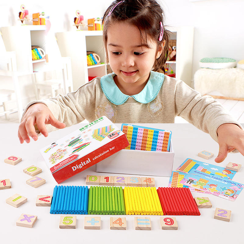 Wooden counting stick for children count strips