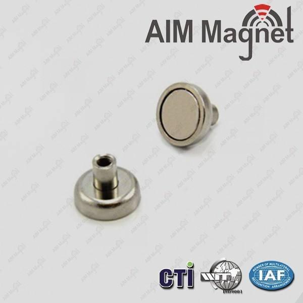 forte 25 mm de diâmetro x 16mm <span class=keywords><strong>altura</strong></span> x m4 linha neodymium magnet pot