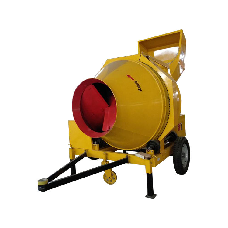 High efficient Self loader mini concrete mixer with pump driven with lister diesel engine