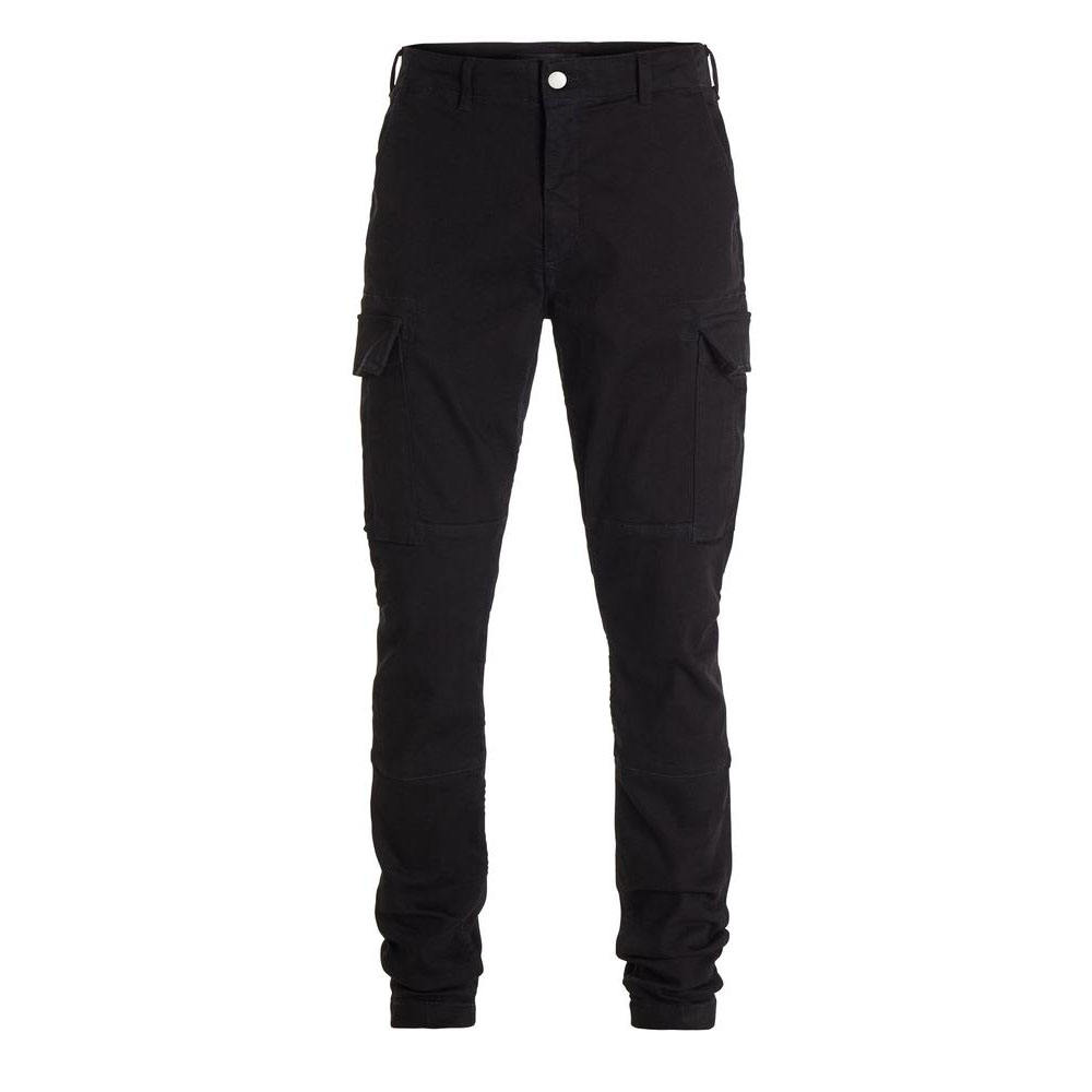 DiZNEW CUSTOM FASHION BLACK STRETCH DENIM PANT CARGO 진 MEN