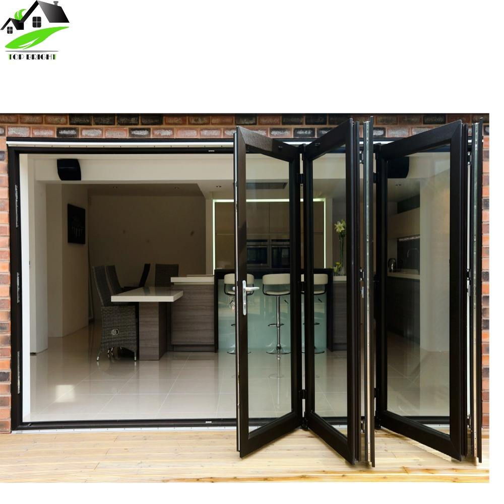 front door designs exterior aluminium glass folding house front sliding door with aluminium frame hinge handle