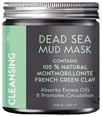 Private Label 100% Natural Dead Sea Mud Mask with French Green Clay, Exfoliating, Absorbing Excess Oils, Reducing Acne