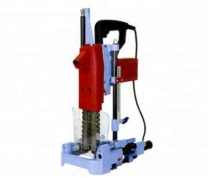 Portable wood chain mortiser machine
