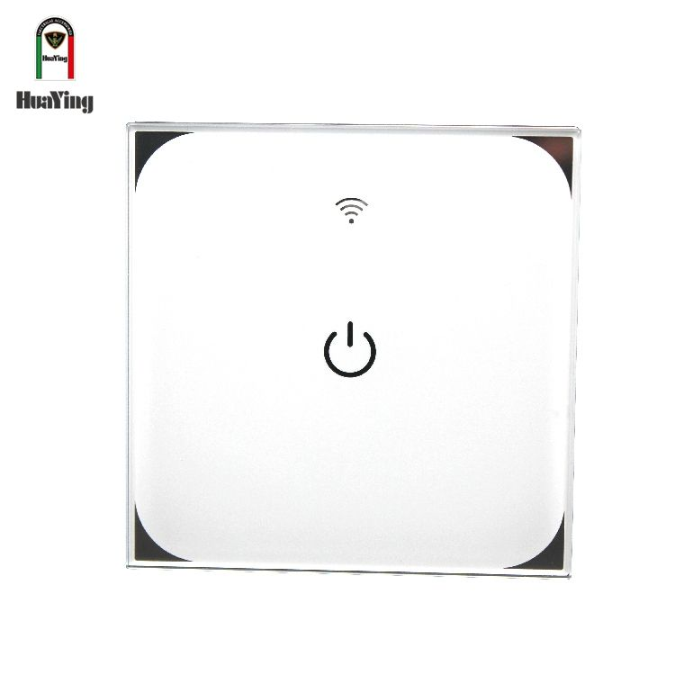 App wifi remote control wireless touch glass screen home automation smart 1 gang wall switch