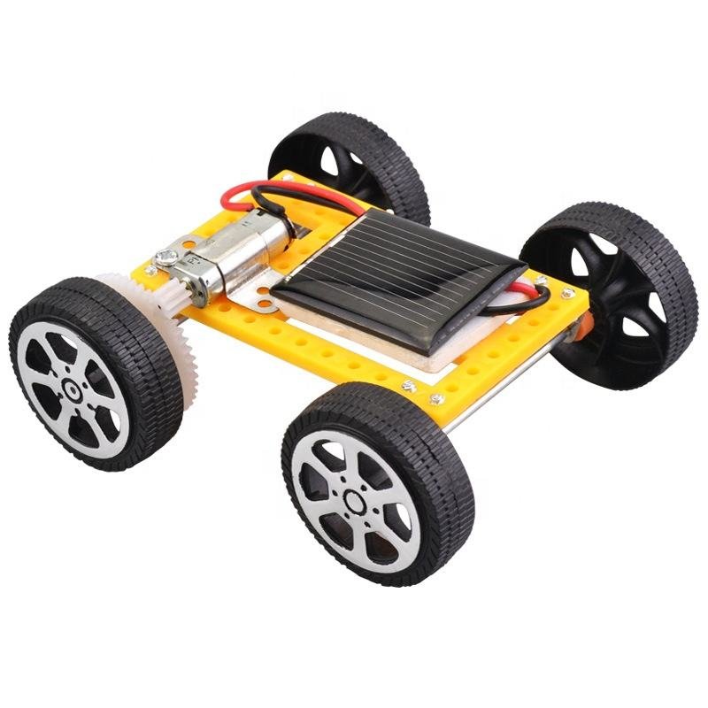 Educational stem kit diy mini powered kids solar car toy