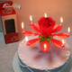 Lotus Flower Musical Fireworks Birthday Candle for parties