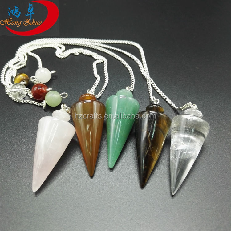 Cadeia Ponto Gemstone Chakra Dowsing do pêndulo