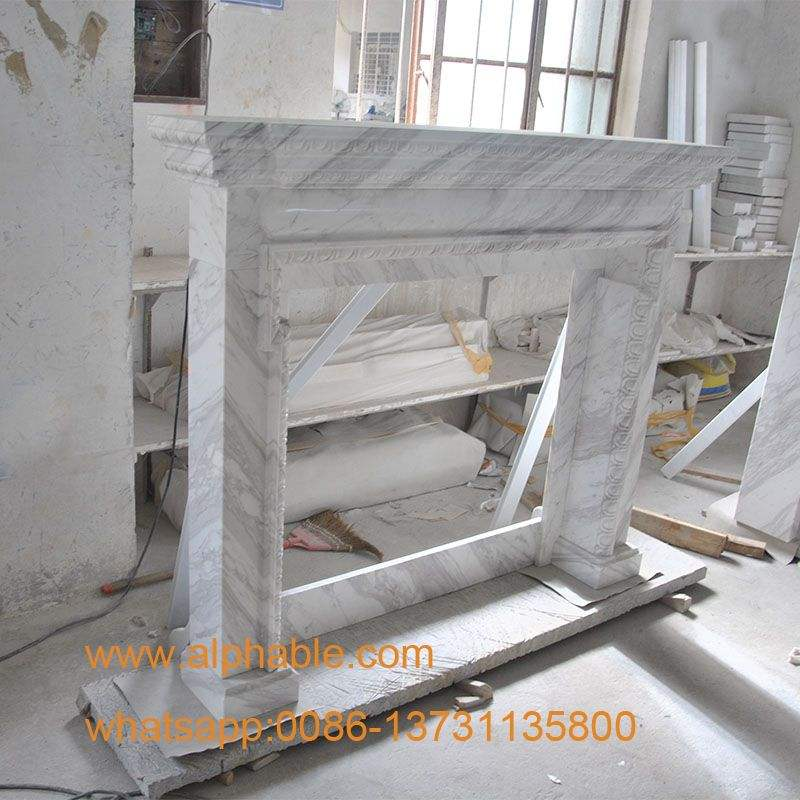Wholesale White Limestone Fireplace Mantel